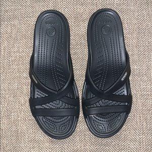 EUC Crocs Sandals Size 8.